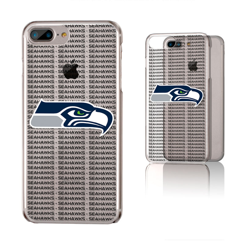 Seattle Seahawks Blackletter iPhone 6+ / 7+ / 8+ Plus Clear Slim Case