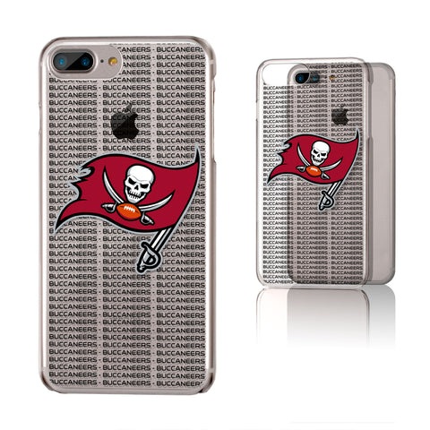 Tampa Bay Buccaneers Blackletter iPhone 6+ / 7+ / 8+ Plus Clear Slim Case