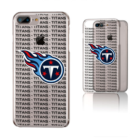 Tennessee Titans Blackletter iPhone 6+ / 7+ / 8+ Plus Clear Slim Case