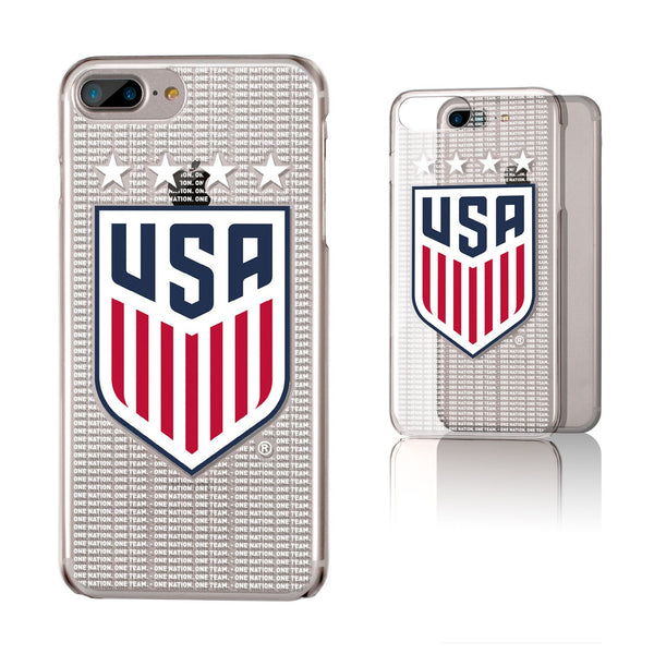 United States Womens National Team Blackletter iPhone 7+/ 8+ Plus Clear Slim Case