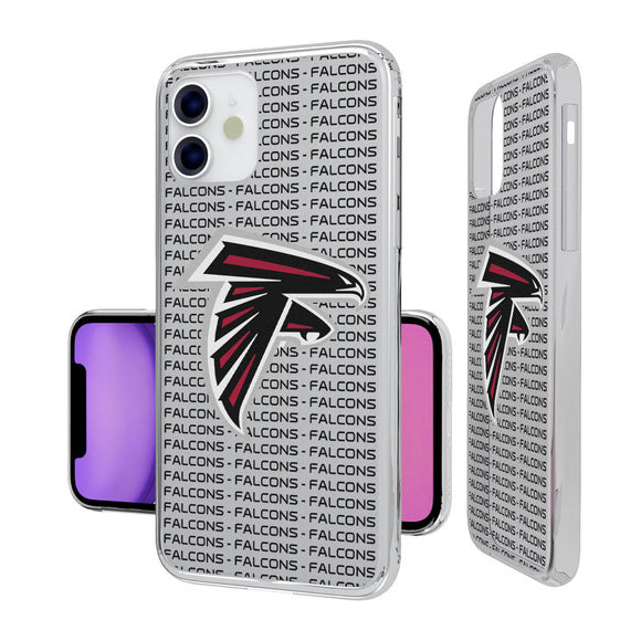 Atlanta Falcons Blackletter iPhone 11 Clear Case