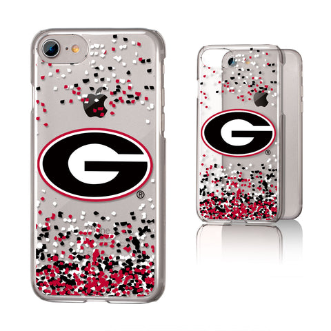 Georgia Bulldogs Confetti iPhone 7 / 8 Clear Slim Case