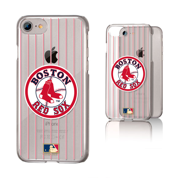 Boston Red Sox 1976-2008 - Cooperstown Collection Pinstripe iPhone 7 / 8 Clear Slim Case