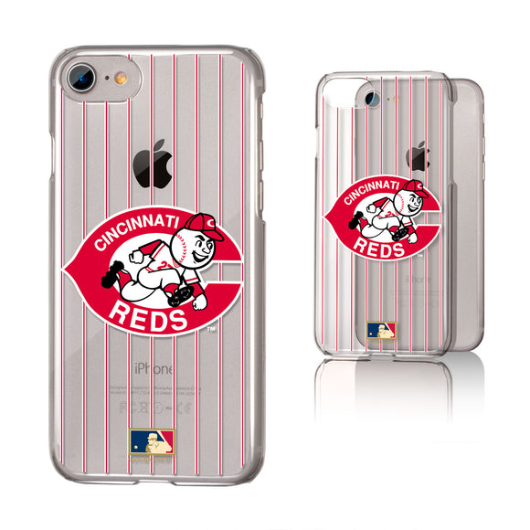 Cincinnati Reds 1978-1992 - Cooperstown Collection Pinstripe iPhone 7 / 8 Clear Slim Case