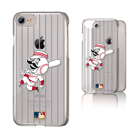 Cincinnati Reds 1953-1967 - Cooperstown Collection Pinstripe iPhone 7 / 8 Clear Slim Case