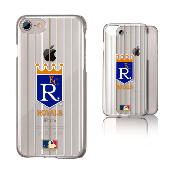 Kansas City Royals 1969-1978 - Cooperstown Collection Pinstripe iPhone 7 / 8 Clear Slim Case