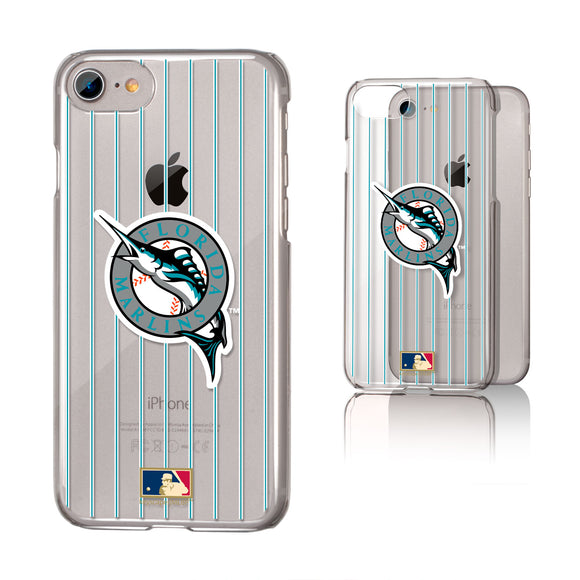 Miami Marlins 1993-2011 - Cooperstown Collection Pinstripe iPhone 7 / 8 Clear Slim Case