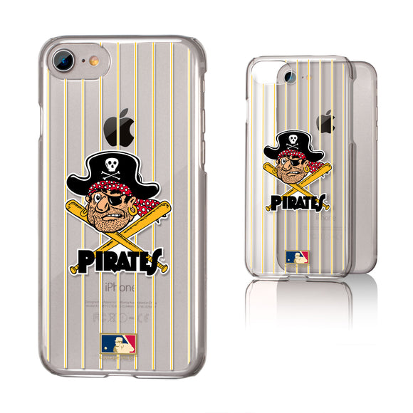 Pittsburgh Pirates 1958-1966 - Cooperstown Collection Pinstripe iPhone 7 / 8 Clear Slim Case
