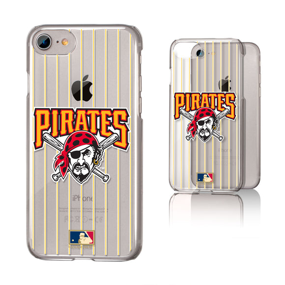 Pittsburgh Pirates 1997-2013 - Cooperstown Collection Pinstripe iPhone 7 / 8 Clear Slim Case