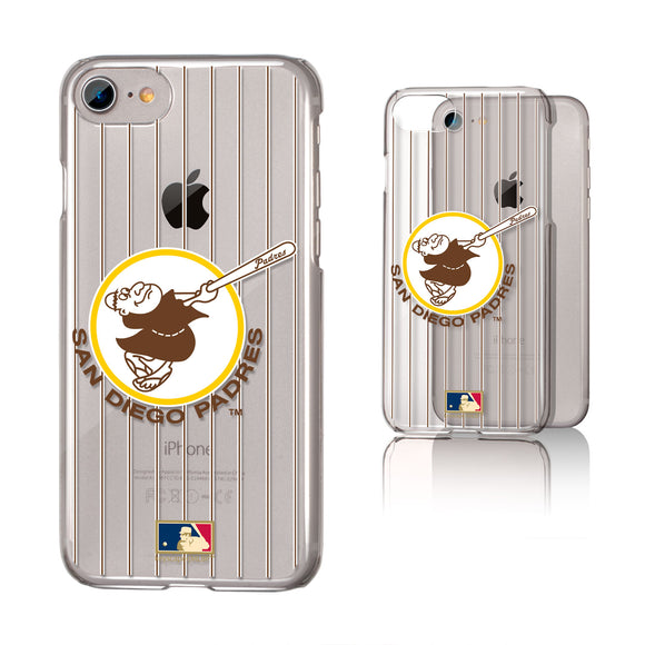 San Diego Padres 1969-1984 - Cooperstown Collection Pinstripe iPhone 7 / 8 Clear Slim Case