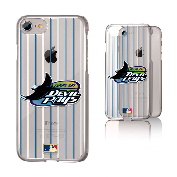 Tampa Bay 1998-2000 - Cooperstown Collection Pinstripe iPhone 7 / 8 Clear Slim Case