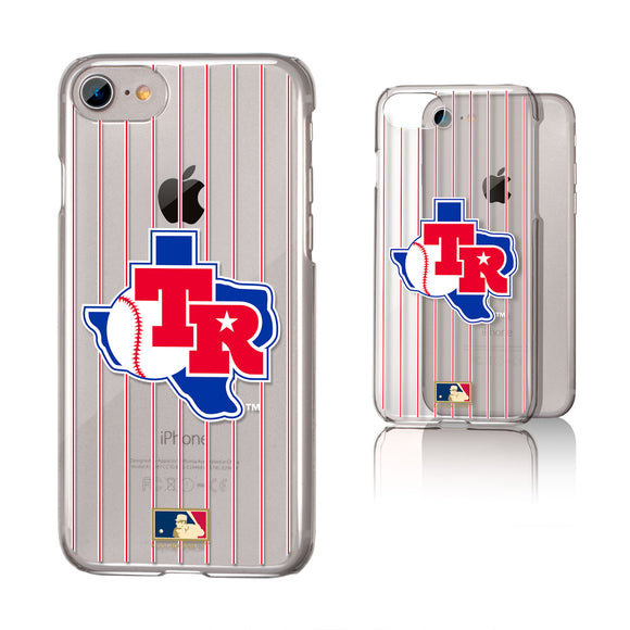 Texas Rangers 1981-1983 - Cooperstown Collection Pinstripe iPhone 7 / 8 Clear Slim Case