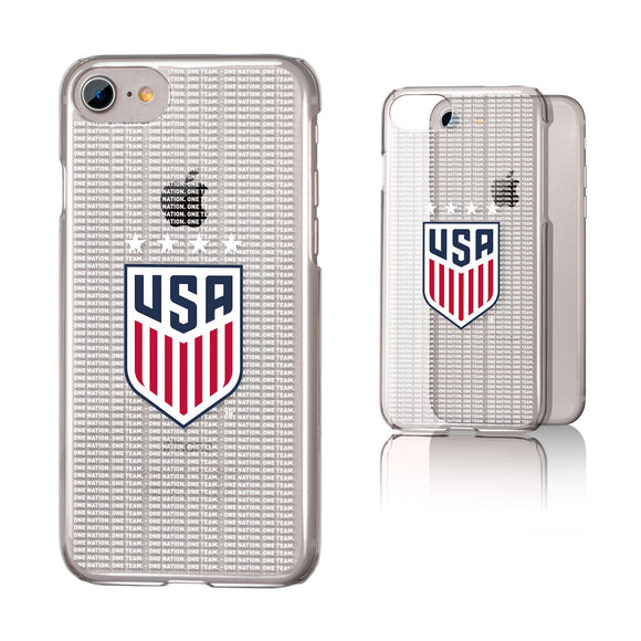 United States Womens National Team Blackletter iPhone 7 / 8 Clear Slim Case