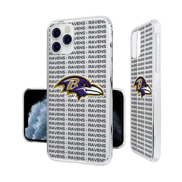 Baltimore Ravens Blackletter iPhone 11 Pro Clear Case