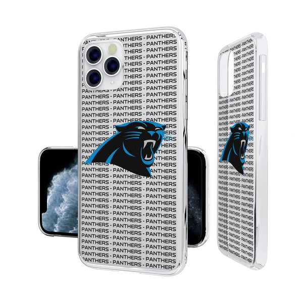 Carolina Panthers Blackletter iPhone 11 Pro Clear Case