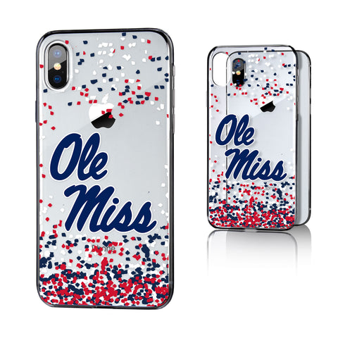 UM Mississippi Ole Miss Rebels Confetti Clear Case for iPhone X