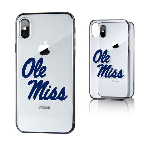 UM Mississippi Ole Miss Rebels Insignia Clear Case for iPhone X