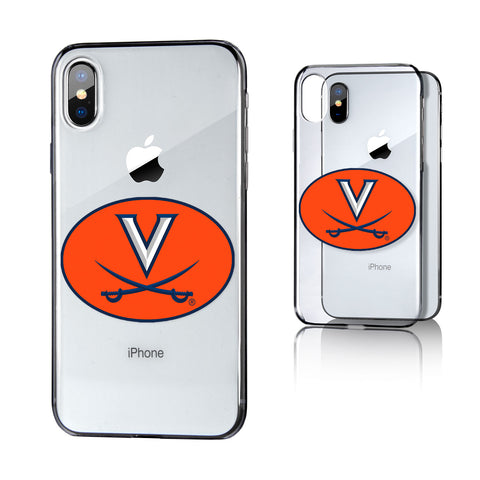 UVA Virginia Cavaliers Insignia Clear Case for iPhone X
