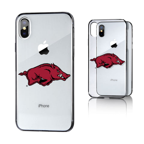 Arkansas Razorbacks Insignia Clear Case for iPhone X