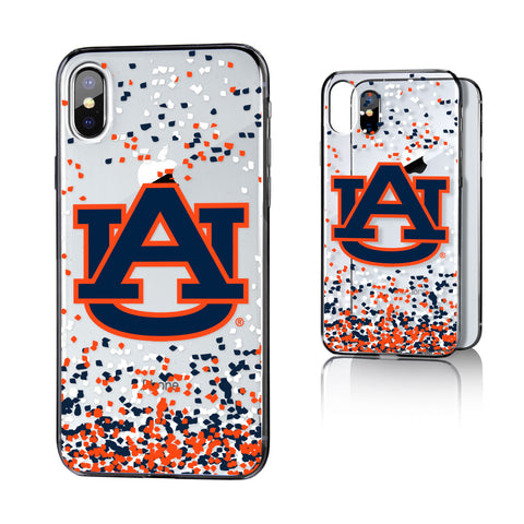 AU Auburn Tigers Confetti Clear Case for iPhone X