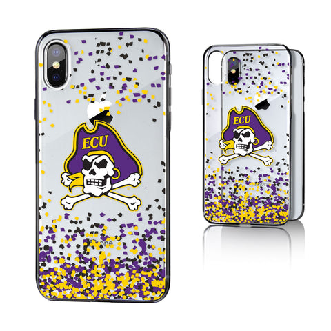 ECU East Carolina Pirates Confetti Clear Case for iPhone X