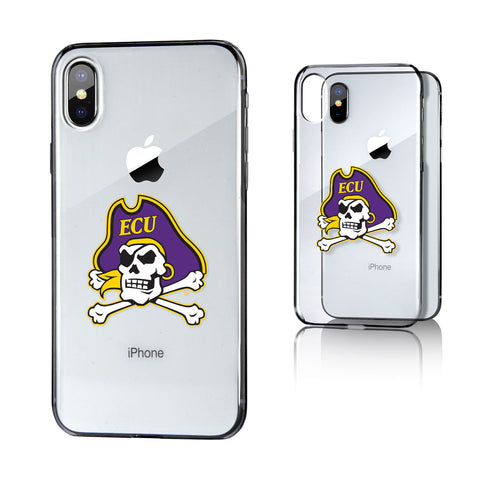 ECU East Carolina Pirates Insignia Clear Case for iPhone X