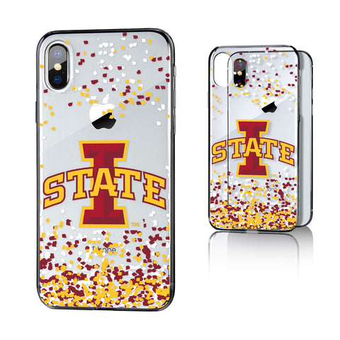 ISU Iowa State Cyclones Confetti Clear Case for iPhone X