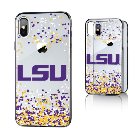 LSU Louisiana State Tigers Confetti Clear Case for iPhone X