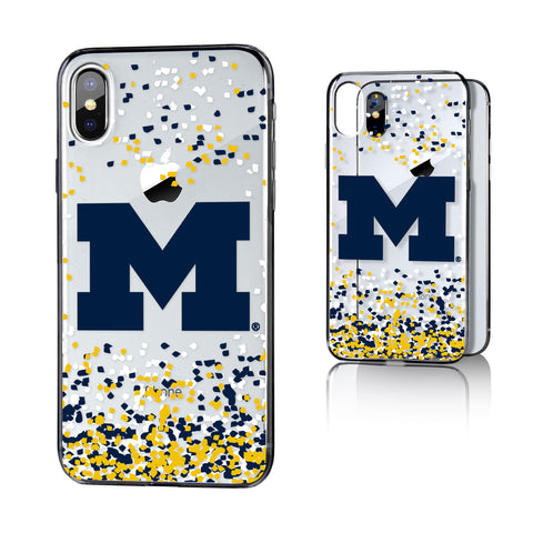 Michigan Wolverines Confetti Clear Case for iPhone X