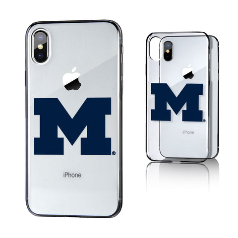 Michigan Wolverines Insignia Clear Case for iPhone X