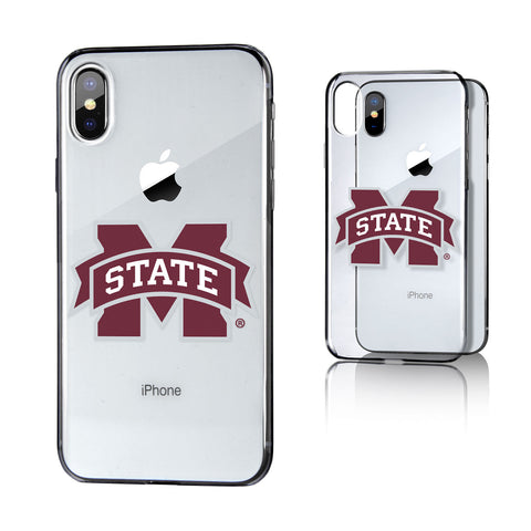 MS Mississippi State Bulldogs Insignia Clear Case for iPhone X