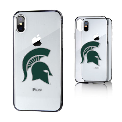 MSU Michigan State Spartans Insignia Clear Case for iPhone X
