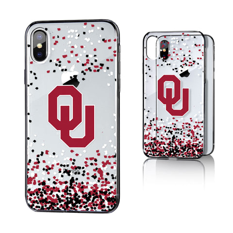 Oklahoma Sooners Confetti Clear Case for iPhone X
