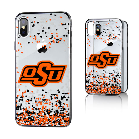 OSU Oklahoma State Cowboys Confetti Clear Case for iPhone X
