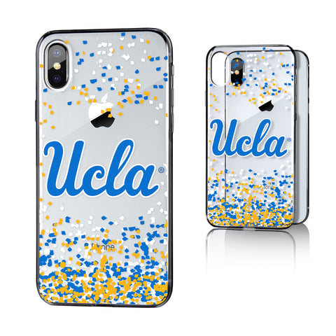 UCLA  Bruins Confetti Clear Case for iPhone X