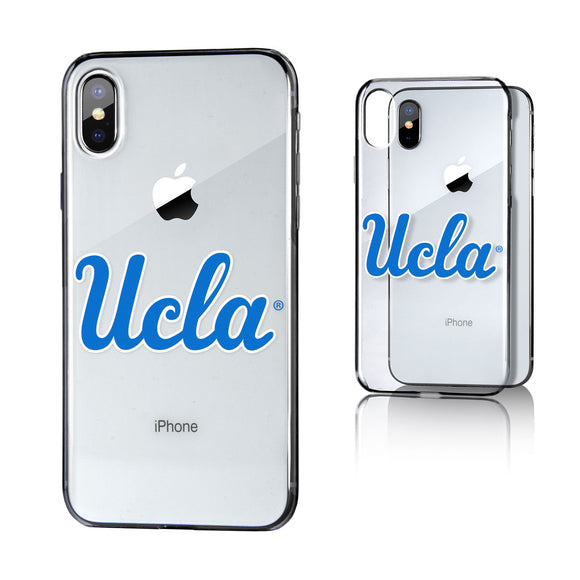 UCLA  Bruins Insignia Clear Case for iPhone X