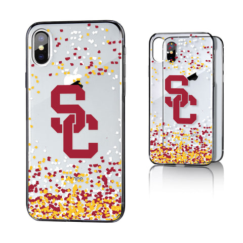 USC Southern California Trojans Confetti Clear Case for iPhone X