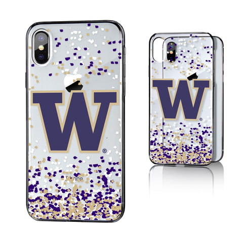 UW Washington Huskies Confetti Clear Case for iPhone X