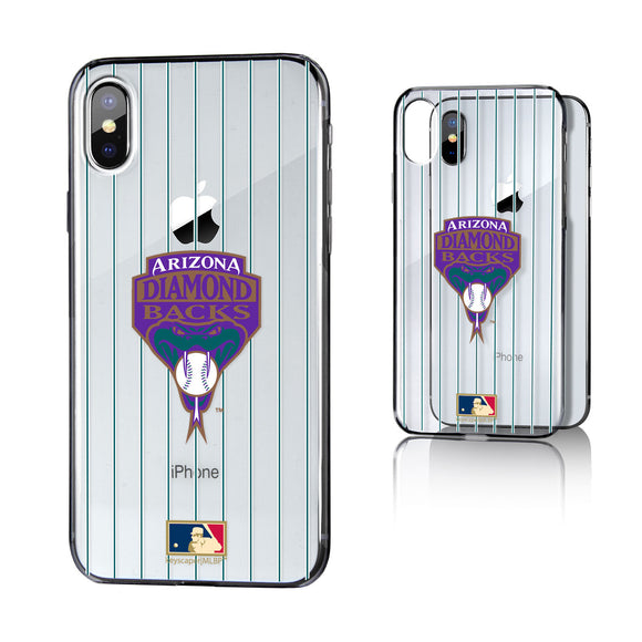 Arizona 1999-2006 - Cooperstown Collection Pinstripe iPhone X / XS Clear Case