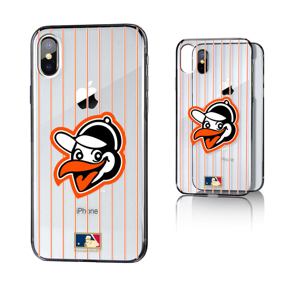 Baltimore Orioles 1955 - Cooperstown Collection Pinstripe iPhone X / XS Clear Case
