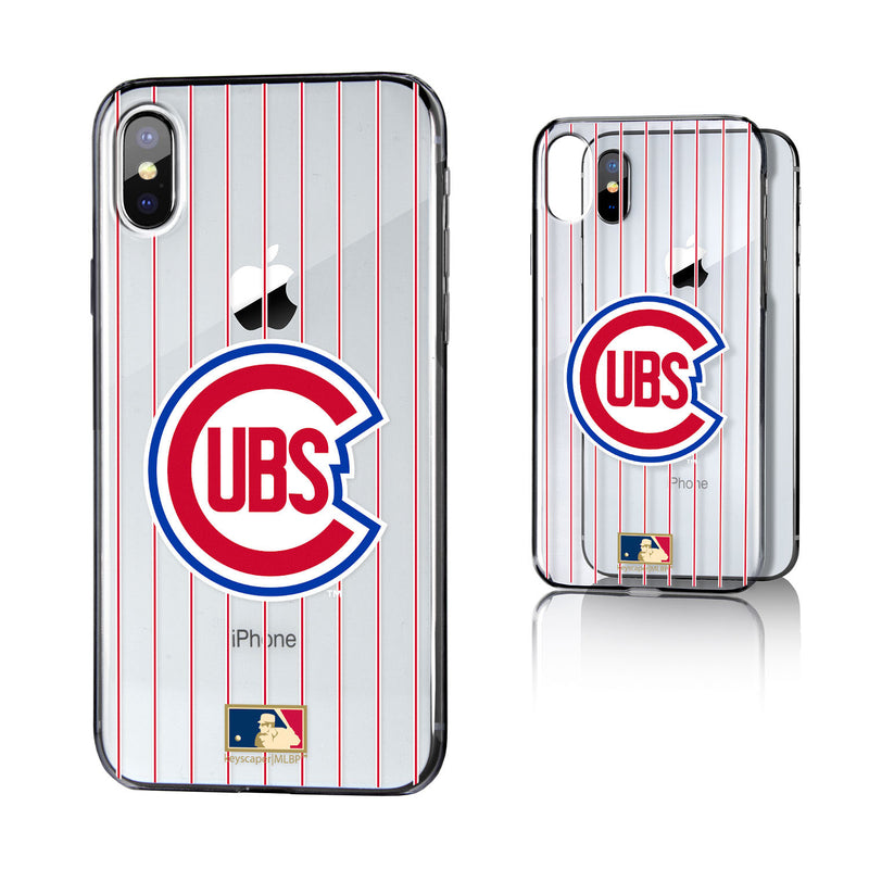 Chicago Cubs 1948-1956 - Cooperstown Collection Pinstripe iPhone X / XS Clear Case