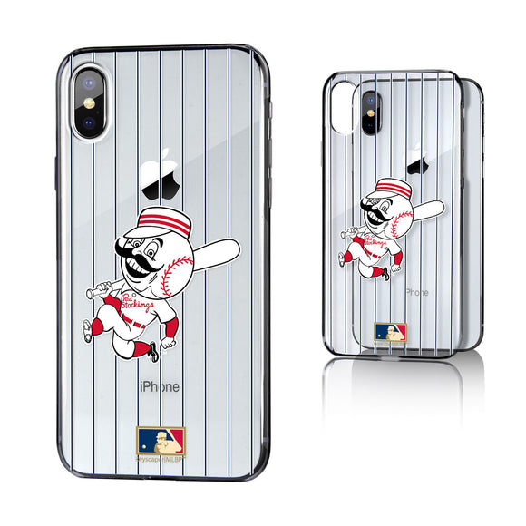 Cincinnati Reds 1953-1967 - Cooperstown Collection Pinstripe iPhone X / XS Clear Case