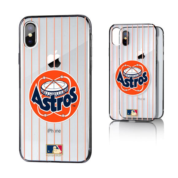 Houston Astros 1977-1998 - Cooperstown Collection Pinstripe iPhone X / XS Clear Case