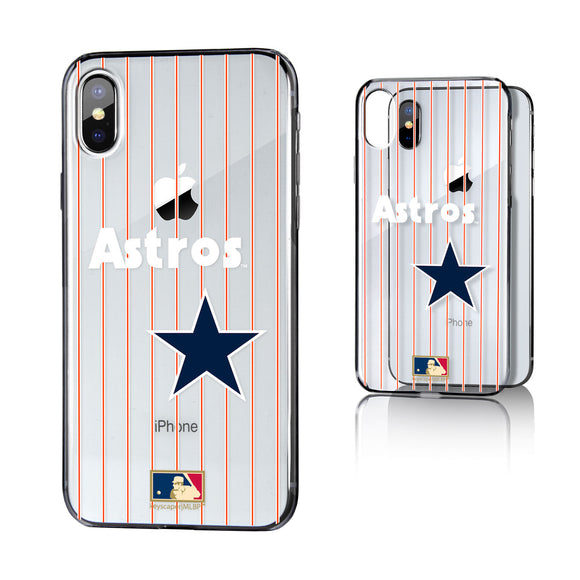Houston Astros 1975-1981 - Cooperstown Collection Pinstripe iPhone X / XS Clear Case