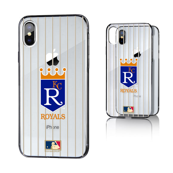 Kansas City Royals 1969-1978 - Cooperstown Collection Pinstripe iPhone X / XS Clear Case