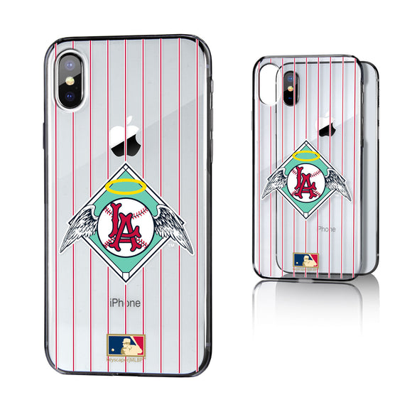 LA Angels 1961-1965 - Cooperstown Collection Pinstripe iPhone X / XS Clear Case