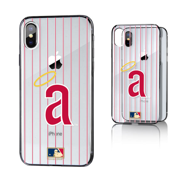 LA Angels 1971 - Cooperstown Collection Pinstripe iPhone X / XS Clear Case