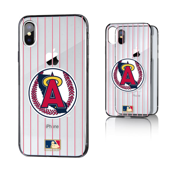 LA Angels 1986-1992 - Cooperstown Collection Pinstripe iPhone X / XS Clear Case