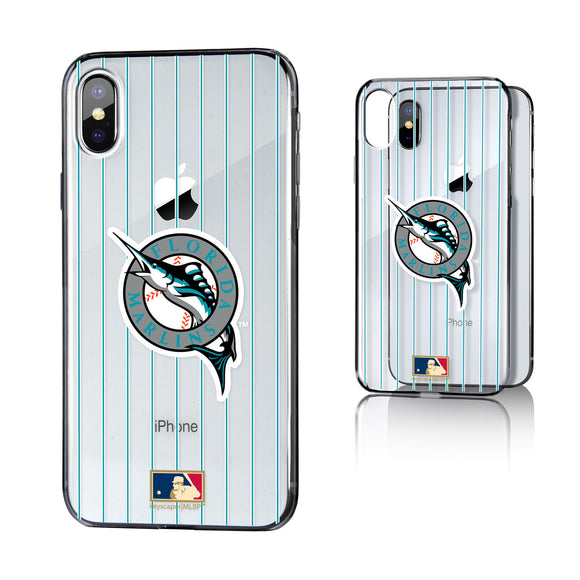 Miami Marlins 1993-2011 - Cooperstown Collection Pinstripe iPhone X / XS Clear Case