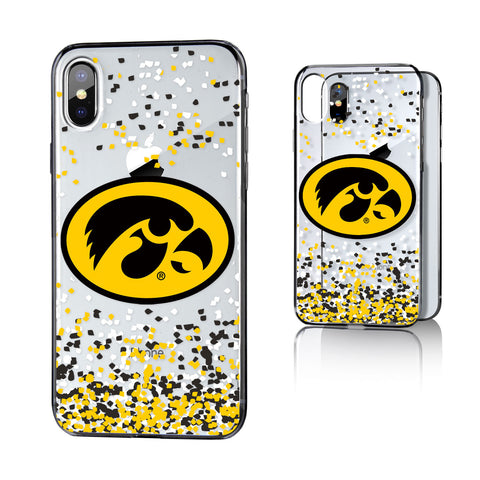 Iowa Hawkeyes Confetti Clear Case for iPhone X